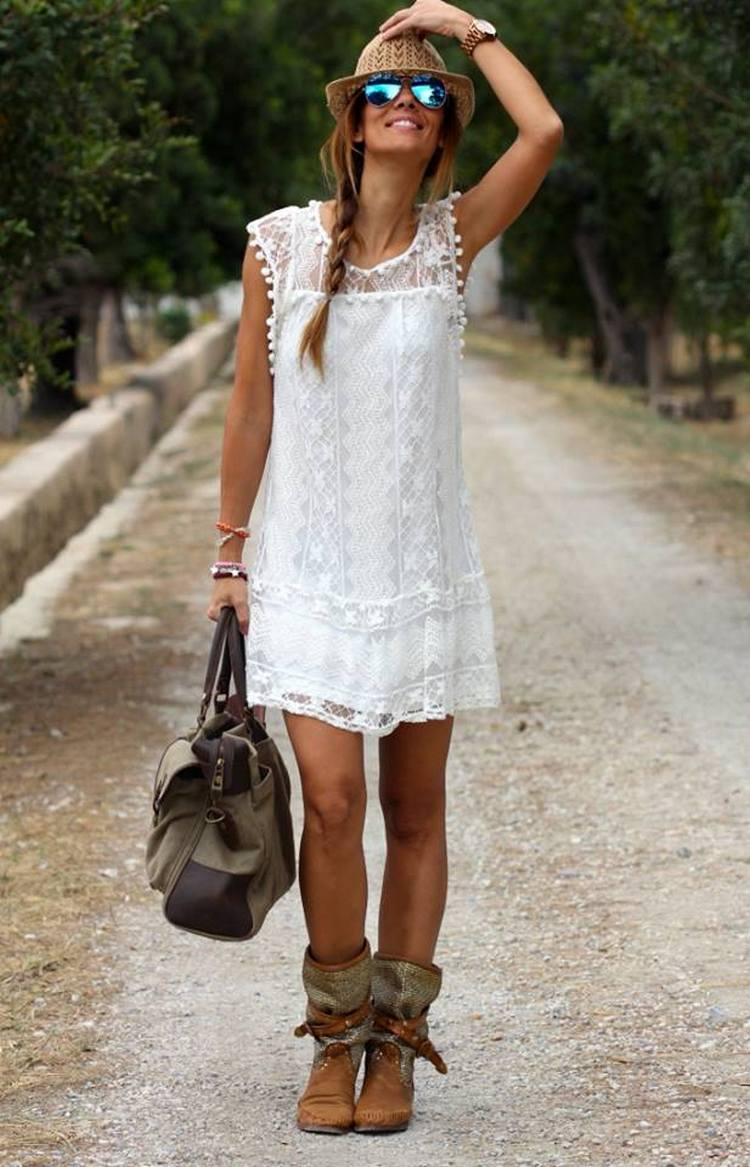 ╰☆╮Boho chic bohemian boho style hippy hippie chic bohème vibe gypsy fashion indie folk the. Find this Pin and more on Fashion by We love Boho. Casual Cute Ruffle Dress - Boho Outfits - Bohemian Style - Indie Fashion - Top B.