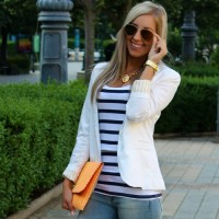 Blazer branco – sempre na moda