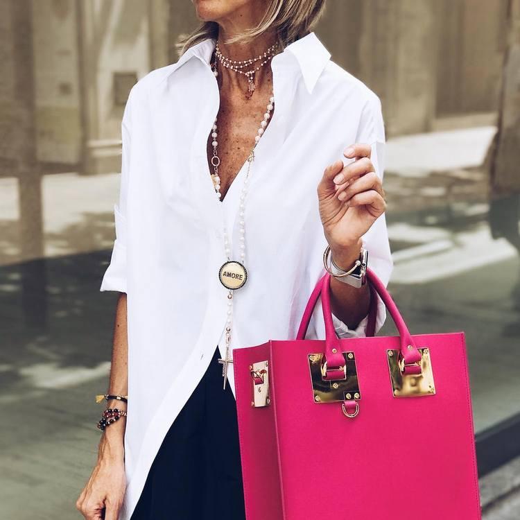 Camisa branca feminina