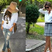 Camisa branca feminina – uma peça vários estilos
