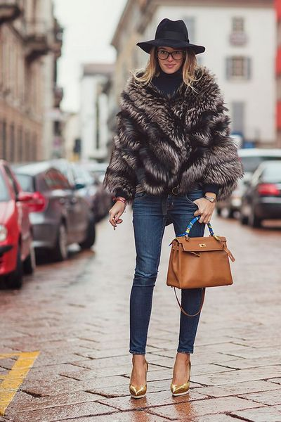 How to Wear a Fur Coat - Fall Winter 2015-2016 | bemvestir®