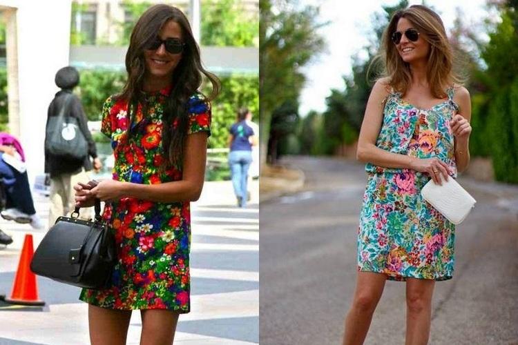 Vestidos floridos Primavera Verão 2016