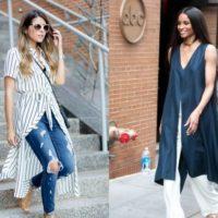 Vestido com calças – tendência  Verão