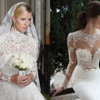 Vestidos de noiva de renda e acessórios