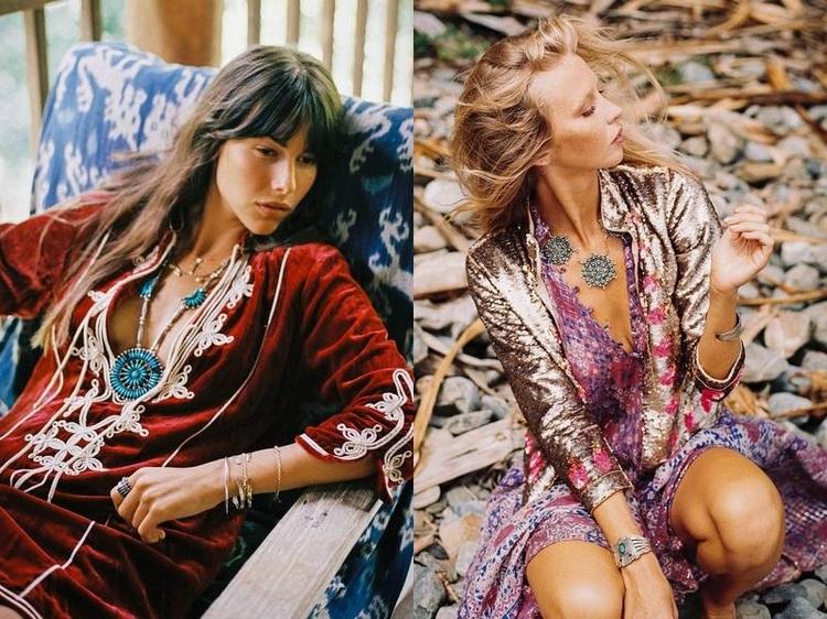 Look hippie chic