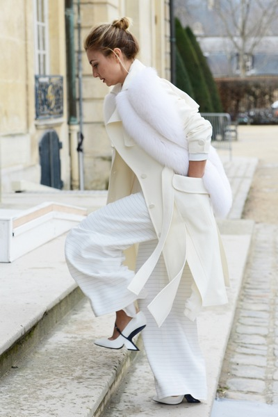Total White Look Fall Winter 2015-2016