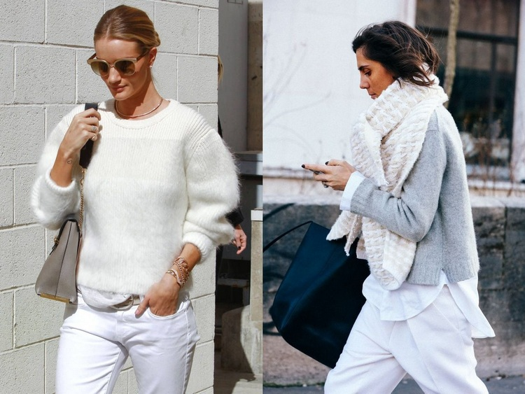 Ways to Wear white in Winter